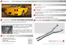Intermediaire Inox QuickSilver Sport pour Ferrari 550 (1997-2003)
