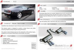 Silencieux arrières Inox QuickSilver Sport pour Ferrari 612 (2004-2010)