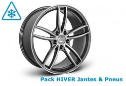 """Pack HIVER jantes et pneus TECHART Formula IV Bicolor 22"""" pour Porsche Cayenne 958 (2011-)"""