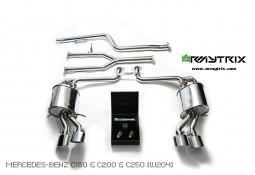 Ligne d'échappement inox Cat-Back ARMYTRIX à valves pour Mercedes Classe C180 / C200/ C250 (W/S/C204) (2011-2014)