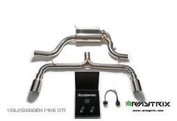 Ligne d'échappement sport inox Cat-Back ARMYTRIX à valves Golf 6 GTI (2008-2013)