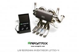 Ligne d'échappement Cat-Back Titane ARMYTRIX à valves pour Lamborghini AVENTADOR LP700-4 / LP720-4 / LP750-4 SV (2011-)