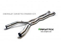 X-pipe inox ARMYTRIX pour Corvette STINGRAY / GRANS SPORT (C7) (2014-)
