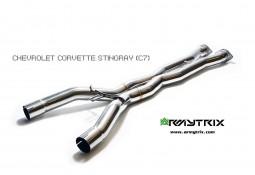 X-pipe inox ARMYTRIX pour Corvette Z06 (C7) (2014-)