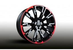 """Pack jantes et pneus BRABUS Monoblock R Red/Black en 8,5x19"""" pour Mercedes Classe A W176 & CLA C/X117"""