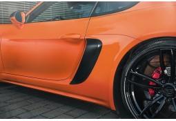 Prises d'air latérales carbone TECHART pour Porsche Boxster / Cayman + S 718 / 982 (2016-))