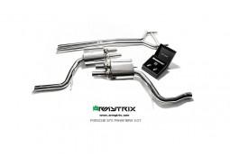 Ligne d'échappement inox Cat-Back ARMYTRIX à valves Porsche Panamera 4 / 4S 3,0 V6 Twin Turbo (2014-)
