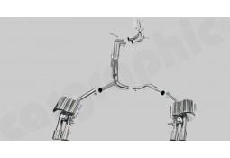 Ligne d'échappement Cat-Back Inox à valves CarGraphic® Audi A6/S6 (C7)