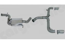 Ligne d'échappement Cat-Back Inox à valves CarGraphic® VW Scirocco R