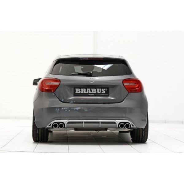 Diffuseur + Silencieux d'échappement BRABUS Mercedes Classe A W176 (2012-08/2015) sans Pack AMG