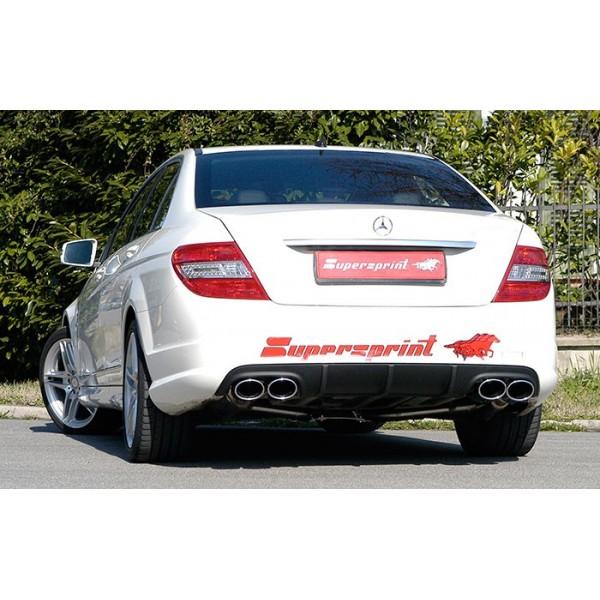 Echappement SUPERSPRINT Mercedes Classe C (W204) 4 Cylindres Diesel -Silencieux look C63 AMG