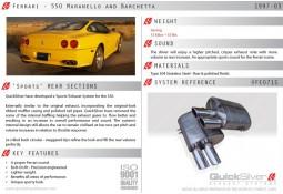 Silencieux arrière Inox QuickSilver Sport pour Ferrari 550 (1997-2003)