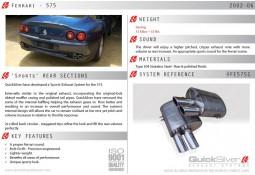 Silencieux arrières Inox QuickSilver Sport pour Ferrari 575 (2002-2006)