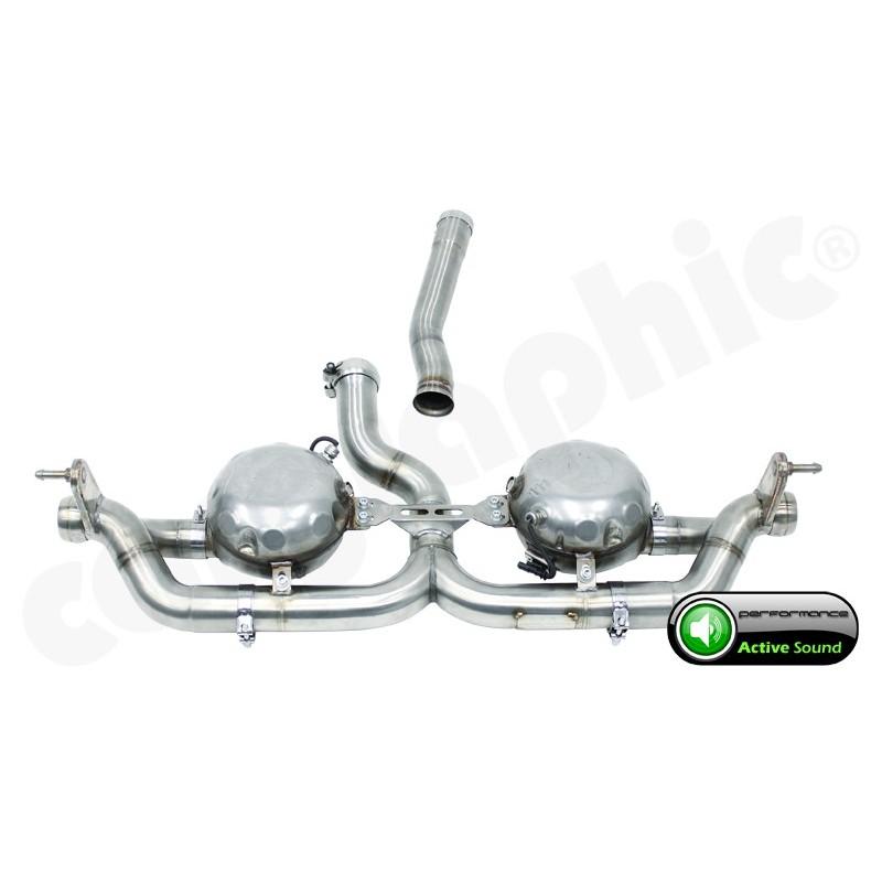 """Echappement sport """"Active Sound System """" CarGraphic pour Porsche Cayenne Diesel (958)"""