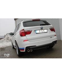 Echappement sport duplex droite/gauche FOX pour BMW X3 E83