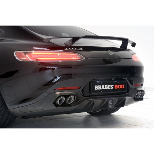 Echappement BRABUS Mercedes AMG GT/GTS (C190)(-2017) -Ligne Cat-Back à valves + Diffuseur
