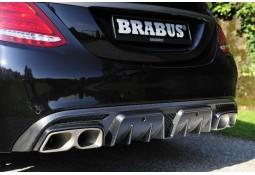 Echappement BRABUS Mercedes Classe C63 S AMG / C63 AMG Berline / Break W/S205 Silencieux à valves + Diffuseur Carbone