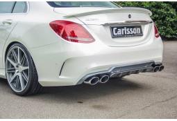 Diffuseur arrière Carlsson avec embouts d'échappements pour Mercedes Classe C (W205) (2014-) Pack AMG