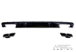 Diffuseur arrière MEC DESIGN + embouts échappement AMG pour Mercedes Classe E (W212) Pack AMG (-03/2013)
