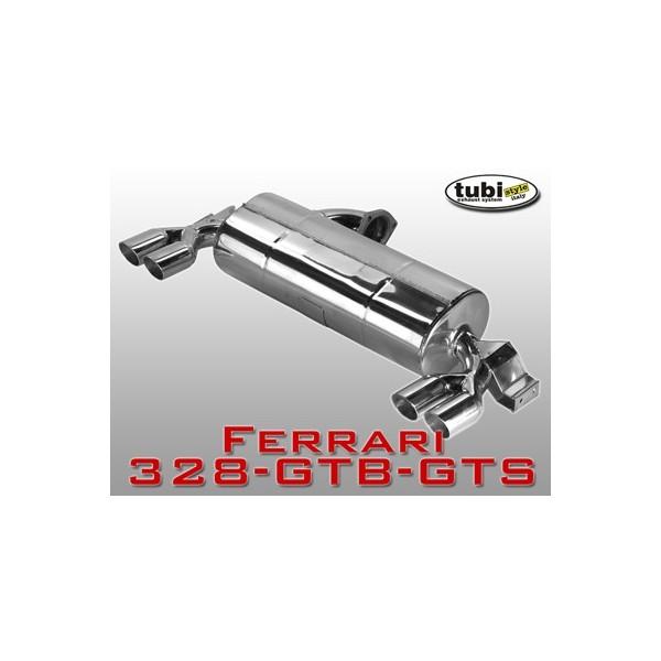 Echappement TUBI STYLE Ferrari 328 Catalysée / Mondial 3,2 - Silencieux