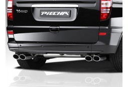 Echappement PIECHA Mercedes Viano / Vito W639 Extra Long 3430mm -Silencieux 4 sorties
