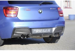 Diffuseur arrière Rieger 4 sorties pour Bmw Série 1 (F20/21) Pack M (09/2011-03/2015)