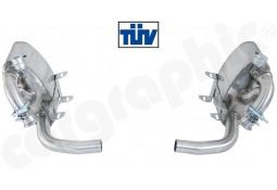 Echappement sport Inox à valves CARGRAPHIC pour Porsche 996 3,4 / 3,6