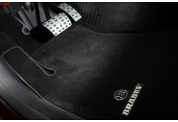 Tapis en velours Noir et Nubuck BRABUS pour Mercedes Classe A W176