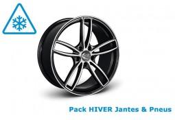 """Pack HIVER jantes et pneus TECHART Formula IV GTS 22"""" pour Porsche Cayenne 958 (2011-)"""