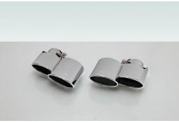 Embouts d'échappements Chrome TECHART Porsche 997 (2009-2011)