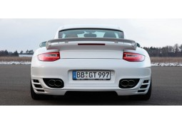 Echappement TECHART Porsche 997.1 Turbo (2004-2009) -Embouts chromes