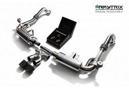 Ligne d'échappement inox Cat-Back ARMYTRIX à valves Porsche Cayman 2,0T / 2,5 T / Cayman S (718) (2016)