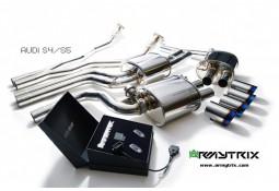 Ligne d'échappement Cat-Back sport inox ARMYTRIX à valves pour Audi S5 V6 3,0 TFSI (2009-)