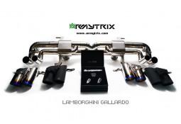 Ligne d'échappement Cat-Back Titane ARMYTRIX à valves pour Lamborghini Gallardo LP550-2 / LP560-4 / LP570-4 (2007-2013)