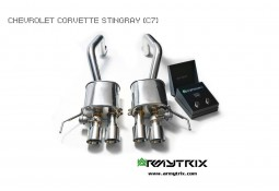 Echappement ARMYTRIX Chevrolet Corvette Stingray / Grand Sport (C7/LT1) - Silencieux à valves (2014-)