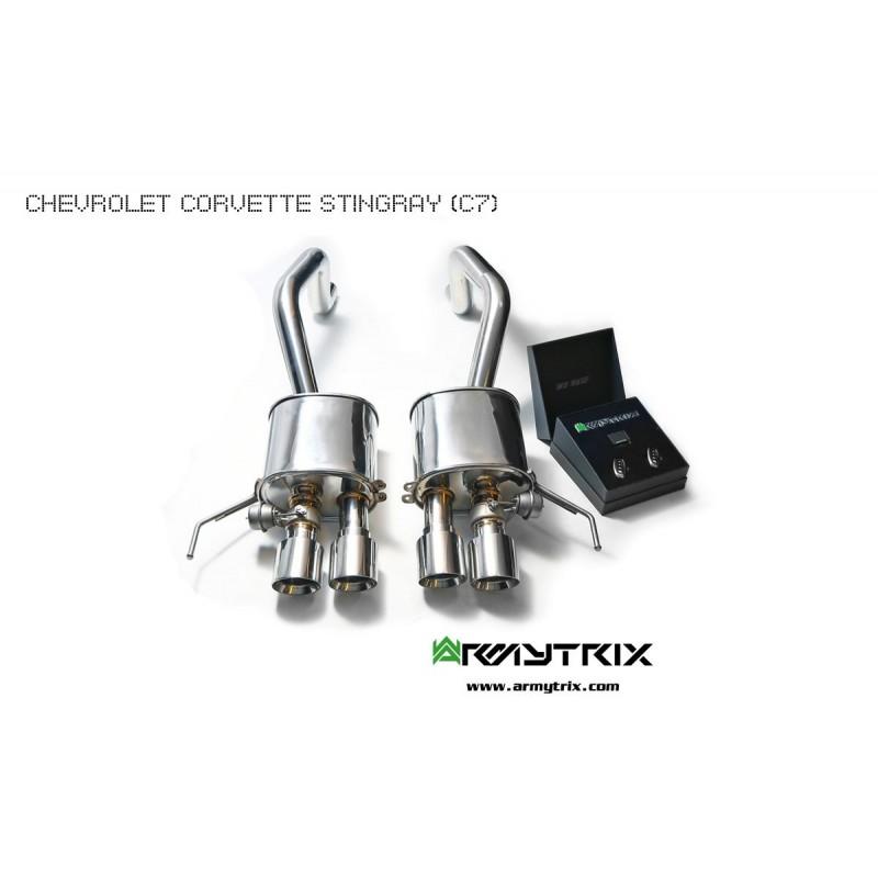 Silencieux d'échappement inox ARMYTRIX à valves pour Corvette Z06 (C7) (2014-)