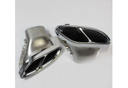 Embouts d'échappement chrome GLC43 AMG pour Mercedes GLC X253 (2015-) Pack AMG