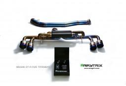 Ligne d'échappement sport Titane Cat-Back ARMYTRIX à valves pour Nissan GT-R R35 (2007-)