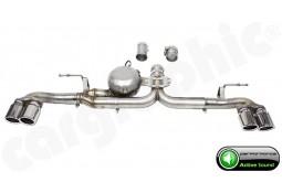 """Echappement sport """"Active Sound System """" CarGraphic pour Bmw X5 M50xd / 40xd F15 avec Pack M"""