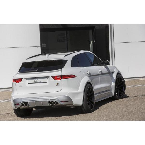 Diffuseur arrière + embouts d'échappement LUMMA DESIGN pour Jaguar F-PACE S model (2016-)