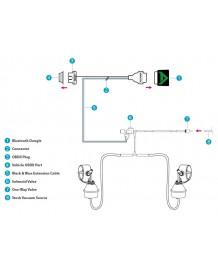 Ligne d'échappement sport inox Cat-Back ARMYTRIX à valves pour Mini Cooper S F56 (2014-)