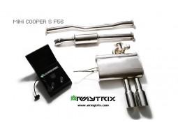 Ligne d'échappement sport inox Cat-Back ARMYTRIX à valves pour Mini Cooper S F55 (2014-)