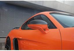 Coques de rétroviseurs carbone TECHART pour Porsche Boxster / Cayman + S 718 / 982 (2016-))