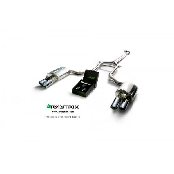 Echappement ARMYTRIX Porsche Panamera 4/S/4S/GTS 3.6/4.8 (970) - Ligne Cat-Back à valves (2009-2014)