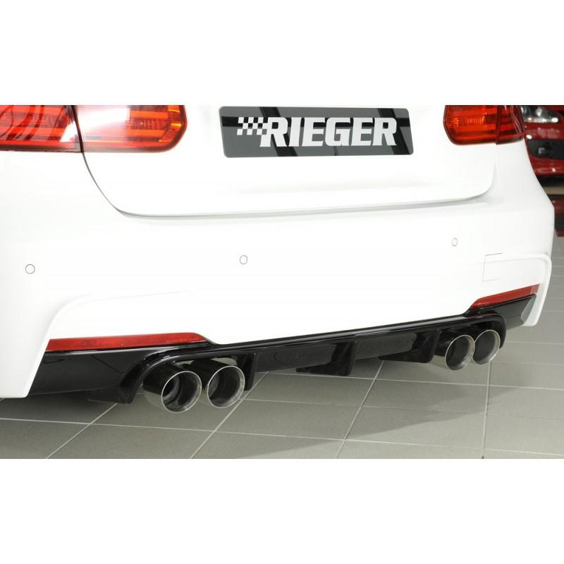 Diffuseur arrière Rieger 4 sorties pour Bmw Série 3 (F30/F31) Pack M