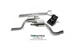 Ligne d'échappement inox Cat-Back ARMYTRIX à valves Porsche Panamera 4 / 4S 3,0 V6 Twin Turbo (2014-)