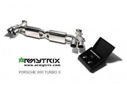 Ligne d'échappement inox ARMYTRIX à valves Porsche 991 Turbo / Turbo S (2013-2015)