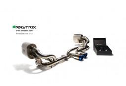 Ligne d'échappement sport Cat-Back inox ARMYTRIX à valves pour Porsche 997 GT3 (2006-2011)
