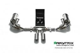 Ligne d'échappement sport Cat-Back Inox ARMYTRIX à valves pour Porsche 991 GT3 / GT3 RS (2013-)