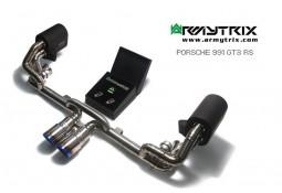 Ligne d'échappement sport Cat-Back Titane ARMYTRIX à valves pour Porsche 991 GT3 / GT3 RS (2013-)
